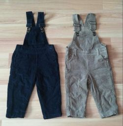 Overalls for corduroy