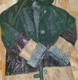 Sheepskin coat for children