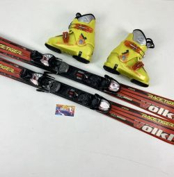 Alpine skiing children's Volkl 110 + boots