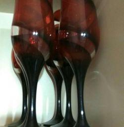 Wine glasses new 6pcs