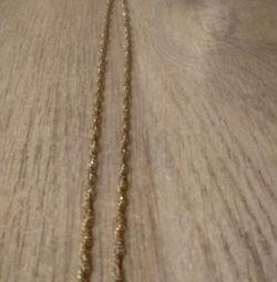 Lanț de 3 tipuri de aur