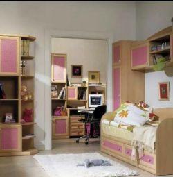 Children's expensive furniture for the girl Gerd (oak)