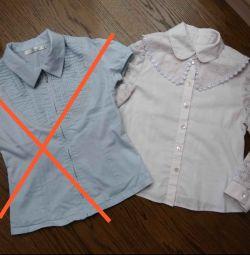 128-134 için bluzlar (gömlekler)