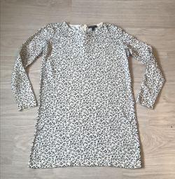 Beyaz Leopar Elbise