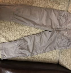 Fleece insulated trousers
