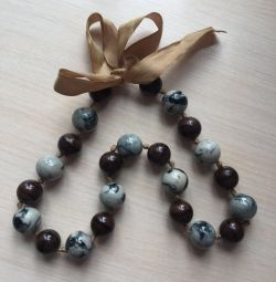 Natural stone beads