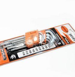 Set de chei TORX 9 buc. T10-T50 AUTO LIVRARE în formă de G