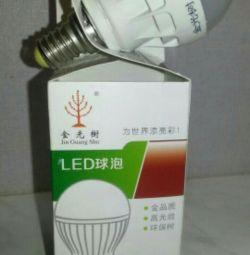 Bec LED 3 W, baza E27, bila