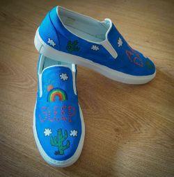 Pantofi cu pantofi cu imprimeu Mira Mikati