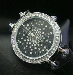Κυρίες ρολόι κοπής μαύρο