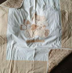 Bortics, sheets and bedspread next