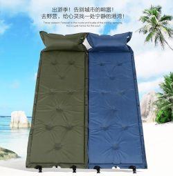 Self-inflatable tourist mattresses
