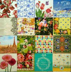 Decoupage napkins paper crafts set