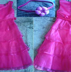 new elegant pink dress
