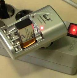 Зарядка qoop для аккумуляторов аа, ааа, 9 вольт