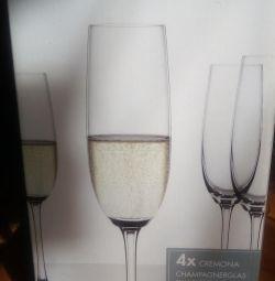 A set of wine glasses, glasses new Spiegelau