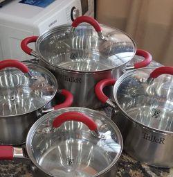 New set of pans Taller