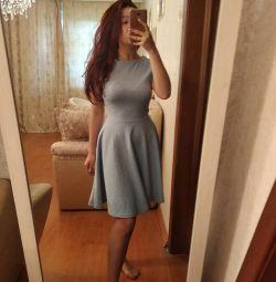 S-Μ μπλε φόρεμα