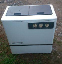 Siberia cu o mașină de spălat centrifugă