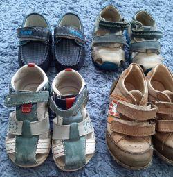 Moccasins, sandals