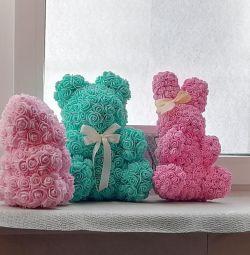 Bears, bunny of roses