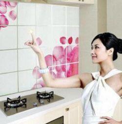 Наклейка декоративная над плитой на кухне