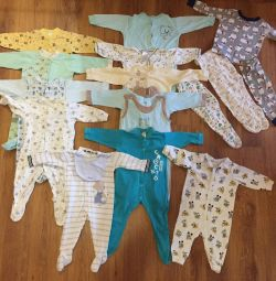 Two packets of clothes per boy (up to 10 months).