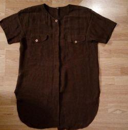 Μακρυά, γυναικεία μπλούζα - πουκάμισο