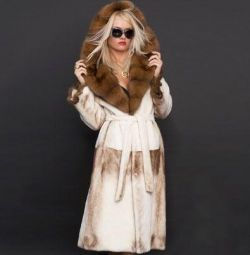 Mink γούνα παλτό με σαμπουάν