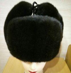 Ushanka pălărie, dintr-o bucată