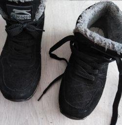 warmed sneakers