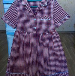 Модное платье-рубашка на девочку 4-5 лет