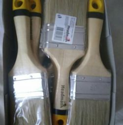 Flat paint brush, nat. 2.5,5.tm.Headman