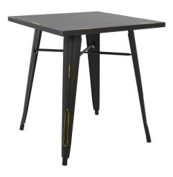 TABLE METAL IN COLOR BLACK PATINA HM0607.40