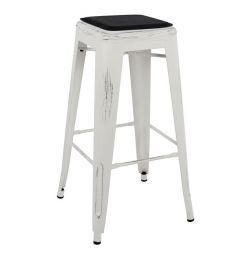 SHAPE BAR MELITA WHITE PATCH & SEAT PU NEGRU
