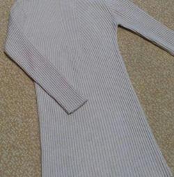 Платье-лапша вязаное