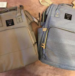 Backpack for Mom gray