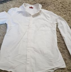 Shirt white fitted stretch new