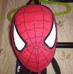 Çocuklar örümcek adam için sırt çantası