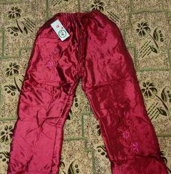 Νέα μονωμένα παντελόνια p 122-128 cm.