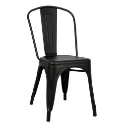 METAL CHAIR HM0018.22 MELITA ÎN BLACK MAT