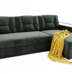 Γωνιακός καναπές Monroe (γκρι) σε ένα δελφίνι