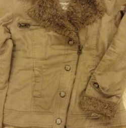 Denim jacket, insulated.
