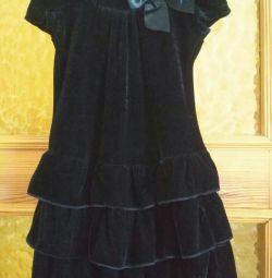Velor black dress 2-3 years
