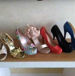 Πολλά παπούτσια για 38 μεγέθη