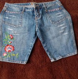 denim shorts with embroidery Axara