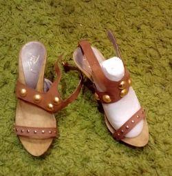 Sandale din piele naturală