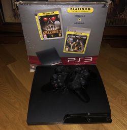 PlayStation 3 slim гри 2 джойстика коробка