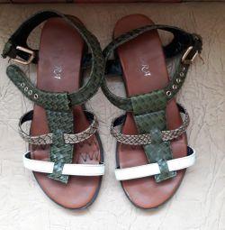 sandal leather