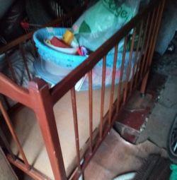 Selling a crib.